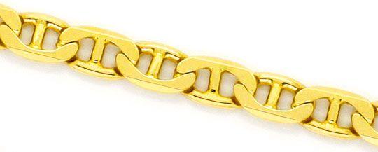 Foto 2, Stegpanzer-Flachpanzerkette Gold-Kette massiv Gelb-Gold, K2261