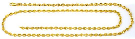 Foto 1, Bohnen-Goldkette Marina-Goldkette Schiffsankergoldkette, K2263