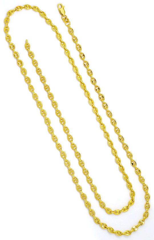 Foto 3, Bohnen-Goldkette Marina-Goldkette Schiffsankergoldkette, K2263