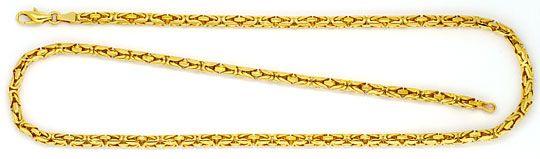 Foto 1, Königskette Goldkette Gelbgold, Selten Rund geschliffen, K2264