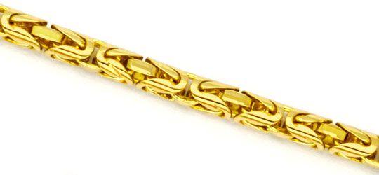 Foto 2, Königskette Goldkette Gelbgold, Selten Rund geschliffen, K2264