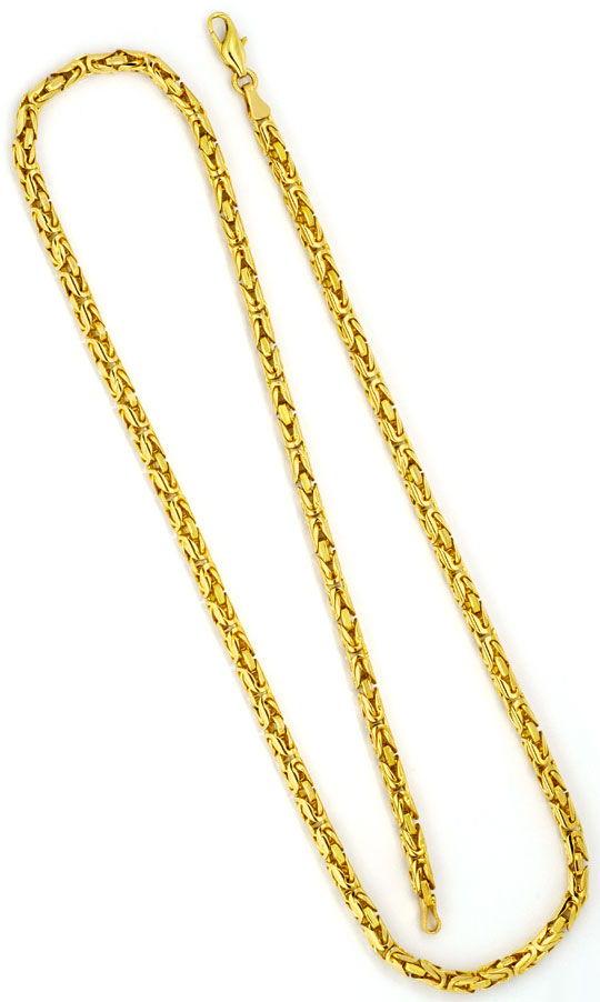 Foto 3, Königskette Goldkette Gelbgold, Selten Rund geschliffen, K2264