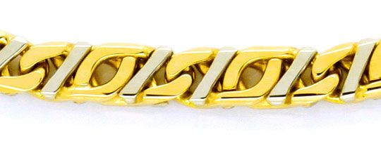 Foto 2, Design Stegpanzer Pfauenauge Tigerauge Gold-Armband 14K, K2265