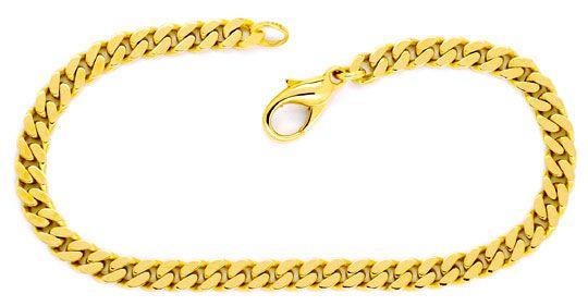 Foto 1, Flachpanzer Armband Goldarmband massiv Gelbgold 14K/585, K2269