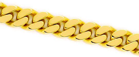 Foto 2, Flachpanzer Armband Goldarmband massiv Gelbgold 14K/585, K2269