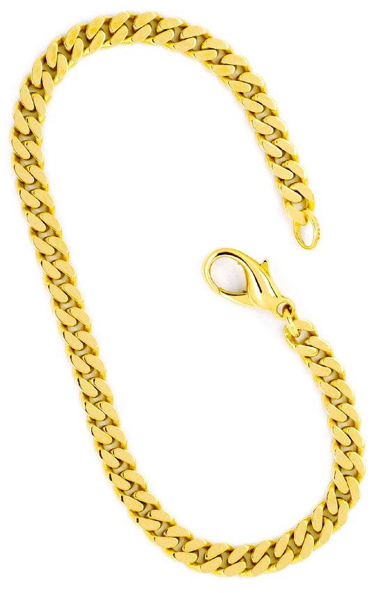 Foto 3, Flachpanzer Armband Goldarmband massiv Gelbgold 14K/585, K2269