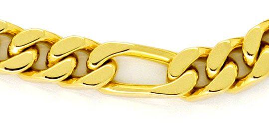 Foto 2, Figaro Flachpanzer Armband Goldarmband massiv Gelb-Gold, K2271