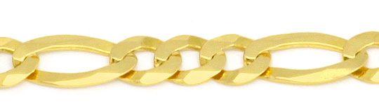 Foto 2, Massive Goldkette Figaro Gelbgold 14K/585 6,3 mm Breite, K2272