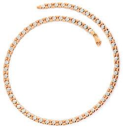 Foto 1, Designer Kollier Collier Rotgold Weißgold 14K Goldkette, K2274