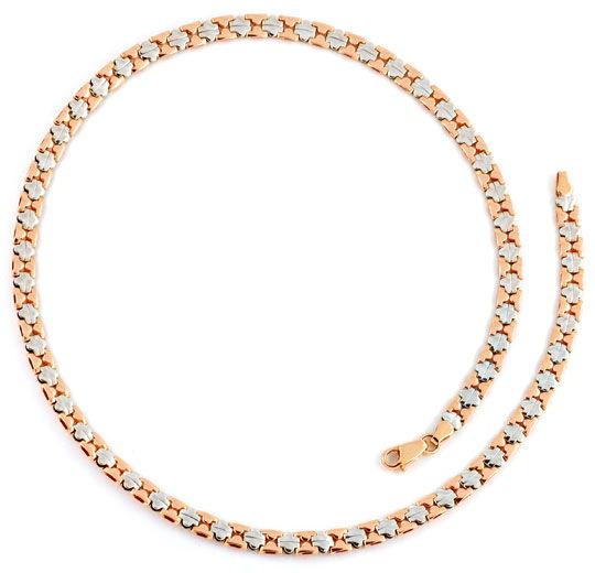 Foto 3, Designer Kollier Collier Rotgold Weißgold 14K Goldkette, K2274
