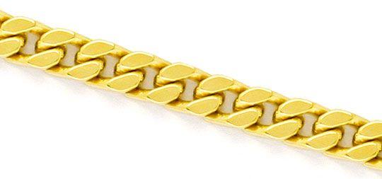 Foto 2, Massive Flachpanzer Goldkette Gelbgold 18K/750 Gold Neu, K2276