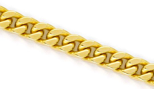 Foto 2, Flachpanzer-Kette Gold-Kette in massiv Gelbgold 14K/585, K2278