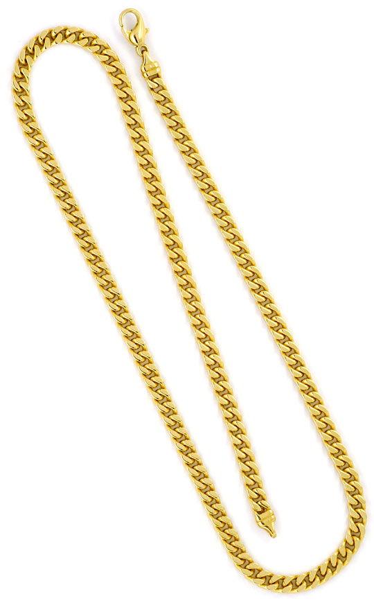 Foto 3, Flachpanzer-Kette Gold-Kette in massiv Gelbgold 14K/585, K2278