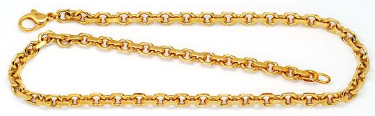 Foto 1, Massive Anker Kette Goldkette Gelb-Gold Rötlich 18K/750, K2280