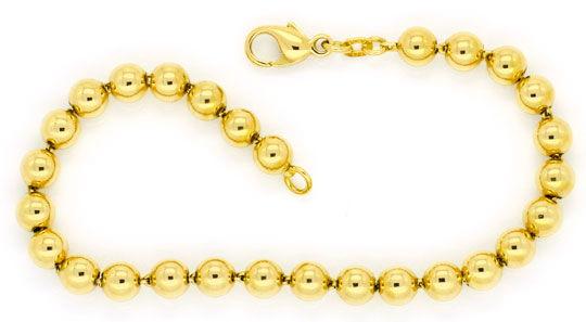 Foto 1, Garnitur Goldkugel-Kette und Goldkugel-Armband Gelbgold, K2284
