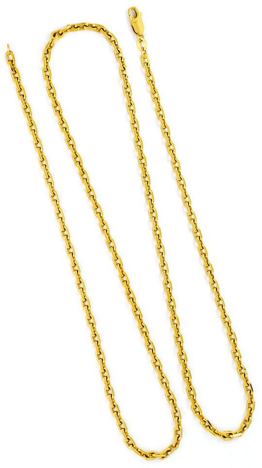 Foto 3, Ankerkette Goldkette Lange Gelbgold Anker-Kette 14K/585, K2285