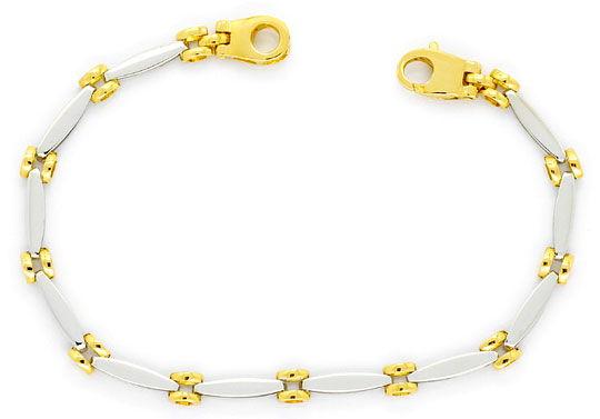 Foto 1, Fantasie Designer Gold-Armband Ovale und Ronden 18K/750, K2288