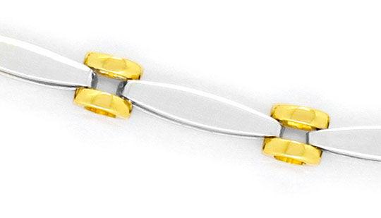 Foto 2, Fantasie Designer Gold-Armband Ovale und Ronden 18K/750, K2288