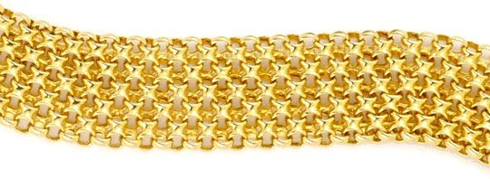 Foto 2, Breites Flecht-Gold-Kollier Goldkette Gelb-Gold 14K/585, K2293
