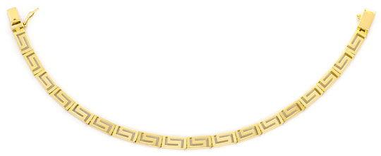 Foto 1, Set Gold-Kette Gold-Armband Mäander Gelbgold Matt-Glanz, K2294