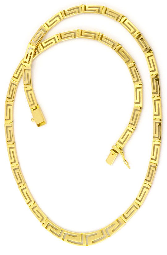 Foto 2, Set Gold-Kette Gold-Armband Mäander Gelbgold Matt-Glanz, K2294