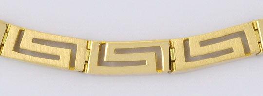 Foto 3, Set Gold-Kette Gold-Armband Mäander Gelbgold Matt-Glanz, K2294