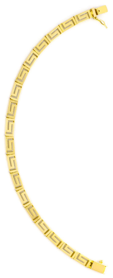 Foto 4, Set Gold-Kette Gold-Armband Mäander Gelbgold Matt-Glanz, K2294