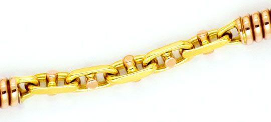 Foto 2, Steg-Anker Rotgold-Spiralen Designerarmband Goldarmband, K2297