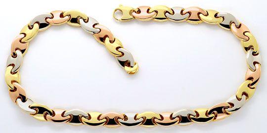 Foto 1, Traum-Designer Goldkette Rotgold Gelbgold Weissgold Neu, K2300
