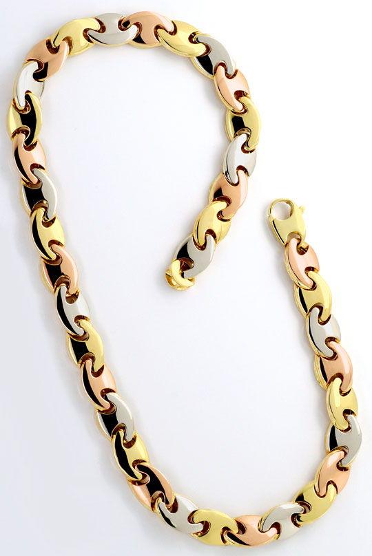 Foto 4, Traum-Designer Goldkette Rotgold Gelbgold Weissgold Neu, K2300