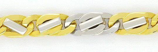 Foto 2, Designer Goldkette in massiv Gelbgold Weissgold 18K/750, K2301