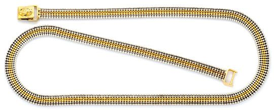 Foto 1, Kugel-Kette sechs-reihige Gold-Kette Gelbgold Weissgold, K2302