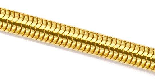 Foto 2, Massive Ovale Schlangen-Goldkette Kollier Gelb-Gold 18K, K2303