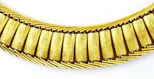 Foto 2, Design-Goldkollier massiv Gelbgold Hunderte Einzelteile, K2304