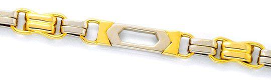 Foto 2, Designergoldkette Goldkollier massiv Gelbgold Weissgold, K2309