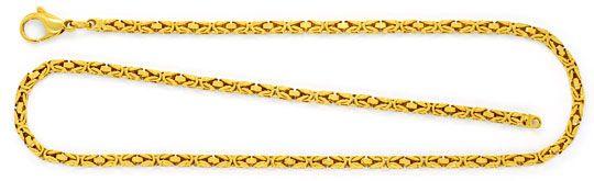 Foto 1, Massive Königskette Goldkette Gelbgoldkette 14K/585 Neu, K2316