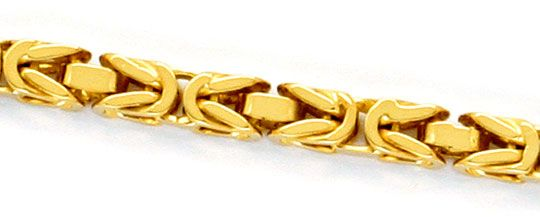 Foto 2, Massive Königskette Goldkette Gelbgoldkette 14K/585 Neu, K2316