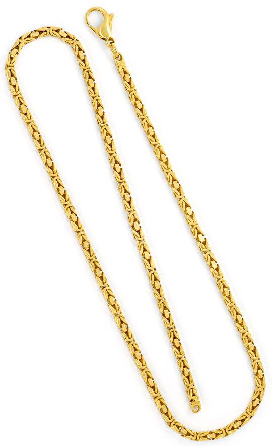 Foto 3, Massive Königskette Goldkette Gelbgoldkette 14K/585 Neu, K2316