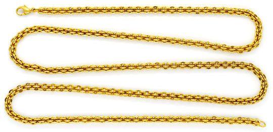 Foto 1, Sehr seltene Himbeer Ringe Gold-Kette Kollier Gelb-Gold, K2317