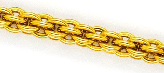 Foto 2, Sehr seltene Himbeer Ringe Gold-Kette Kollier Gelb-Gold, K2317