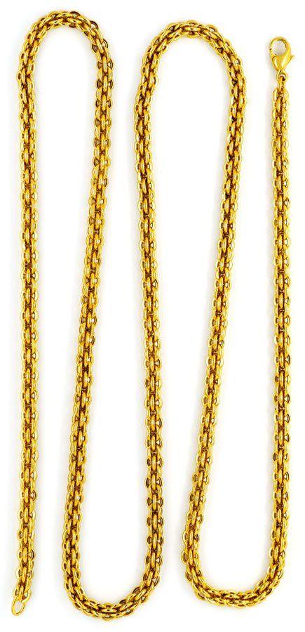 Foto 3, Sehr seltene Himbeer Ringe Gold-Kette Kollier Gelb-Gold, K2317