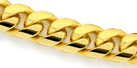 Foto 2, Massives gewölbtes Flachpanzer Armband Gold-Armband 14K, K2321