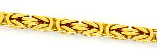 Foto 2, Massive Königs-Kette Koenigs-Goldkette Kastenverschluss, K2323