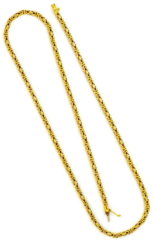 Foto 3, Massive Königs-Kette Koenigs-Goldkette Kastenverschluss, K2323
