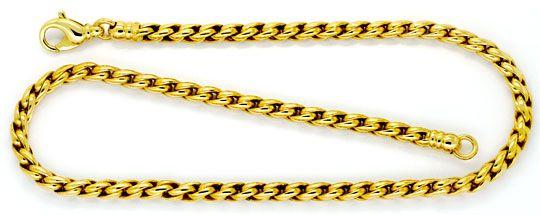 Foto 1, Zopfkette Zopf-Goldkette Goldkollier Gelbgold Karabiner, K2324