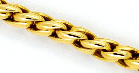 Foto 2, Zopfkette Zopf-Goldkette Goldkollier Gelbgold Karabiner, K2324