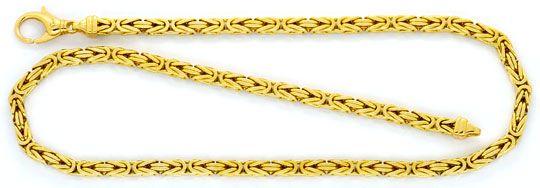 Foto 1, Super-Schwere Königskette Goldkette massiv Gelbgold 14K, K2325