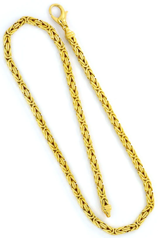 Foto 3, Super-Schwere Königskette Goldkette massiv Gelbgold 14K, K2325