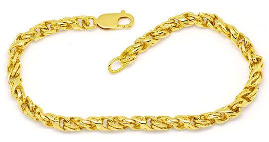 Foto 1, Set Goldkette - Goldarmband Dollar Anker, Gelb-Gold 18K, K2327