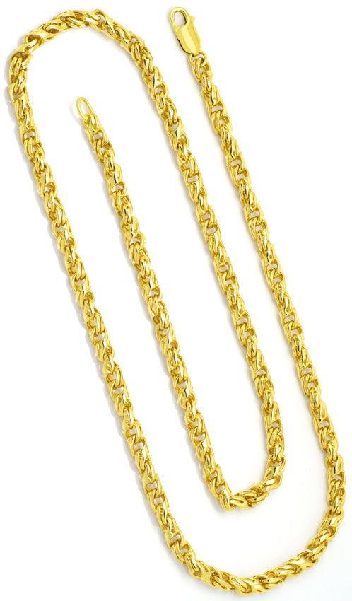 Foto 3, Set Goldkette - Goldarmband Dollar Anker, Gelb-Gold 18K, K2327